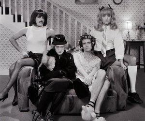 Queen, i want to break free, and black and white image