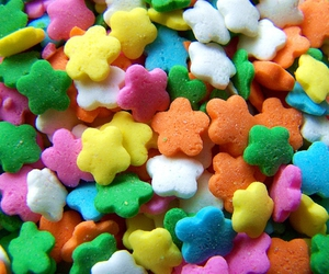 colorful, candy, and flowers image