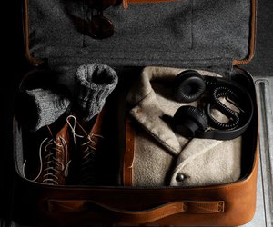 beauty, suitcase, and man image