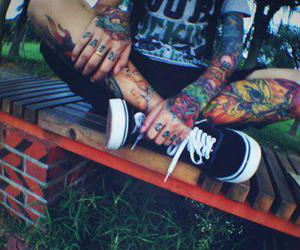 tattoo, boy, and vans image