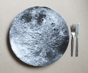 moon, food, and plate image