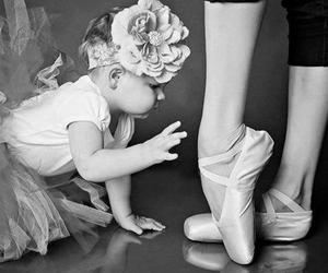 baby, ballet, and black and white image
