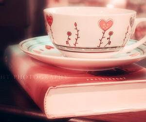 book, cup, and cute image
