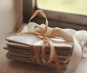 letters, vintage, and bow image
