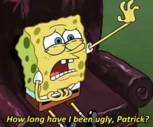 spongebob, ugly, and patrick image