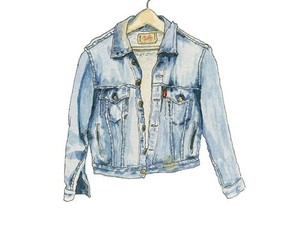 jacket, jeans, and drawing image