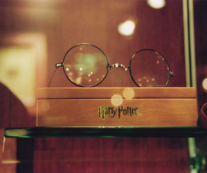 harry potter, glasses, and book image