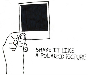 polaroid, picture, and shake image