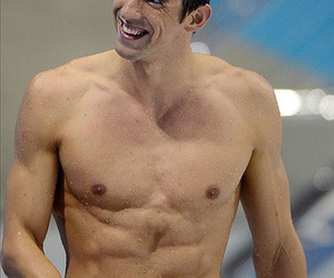 abs, Michael Phelps, and medalist image