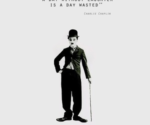quote, charlie chaplin, and laughter image