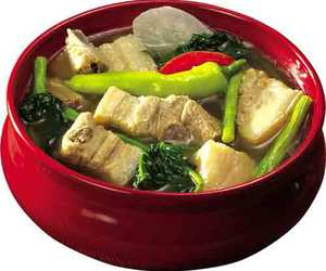 filipino food and sinigang na baboy image