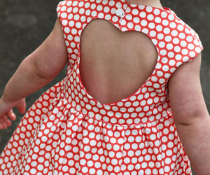 cute, heart, and dress image