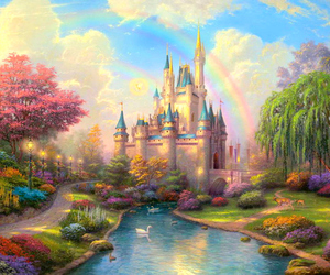kitsch, magical, and rainbow image