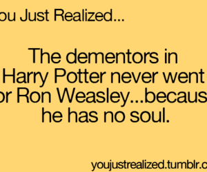 harry potter, ron weasley, and dementors image