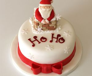 christmas, cake, and santa image