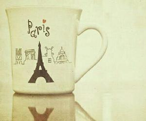 paris, cup, and eiffel tower image