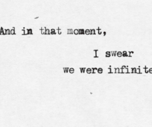 quote, infinite, and movie image