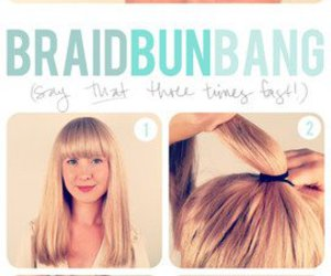 adorable, buns, and hair tutorials image
