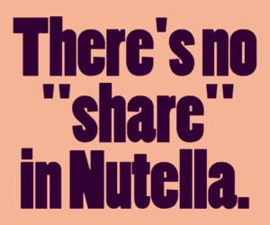 food, no, and nutella image