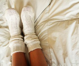 socks, winter, and white image