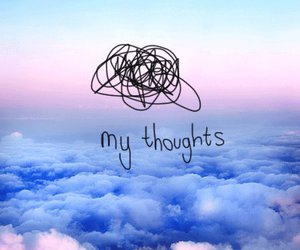 thoughts, sky, and quotes image