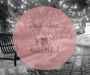 december, you're, and lights image
