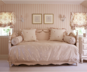 interior, bedroom, and pink image