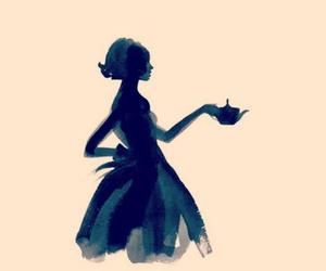 tea, art, and illustration image