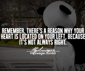 quote, heart, and left image