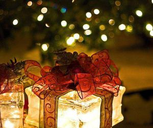 christmas, sparkles, and gifts image