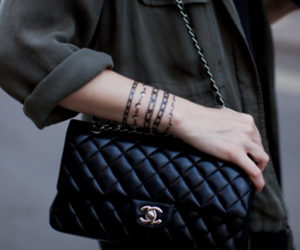 chanel, bag, and tattoo image