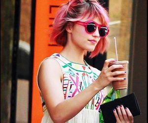 dianna agron, glee, and pink image