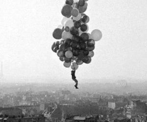 balloons, fly, and city image