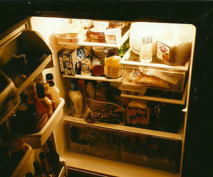 food, fridge, and vintage image