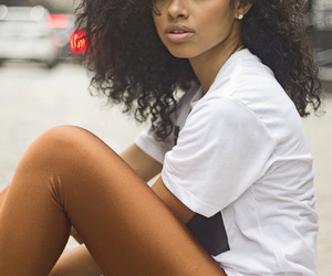 beauty, hair, and curly hair image