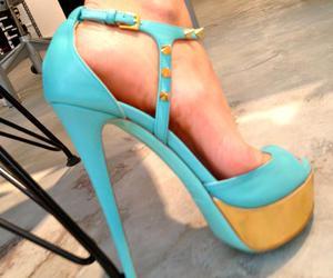 aqua, sandal, and gold image