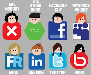 illustrations and social networking image