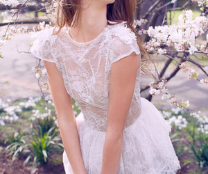 beautiful, cherry blossom, and dress image