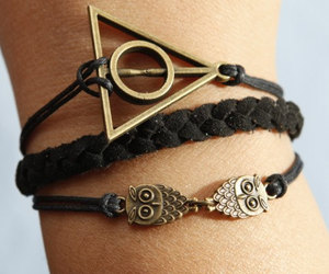 owl, bracelet, and harry potter image