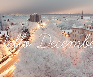 december, hello, and letters image