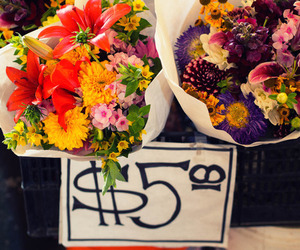 flowers, photography, and pike place market image