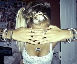 blonde, bracelets, and pictures image