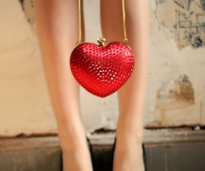 heart, legs, and purse image