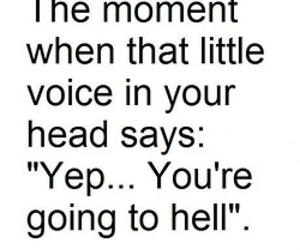 hell, funny, and quotes image
