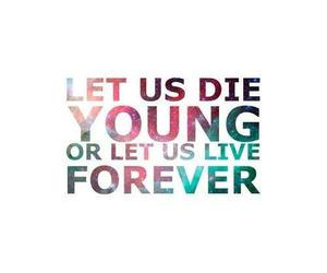 forever, young, and text image