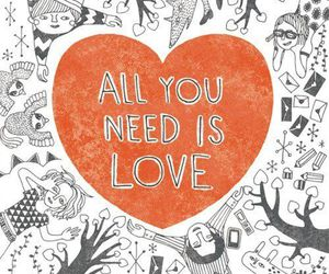 love, heart, and all you need is love image