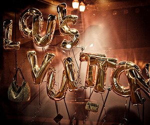 bags, balloons, and gold image