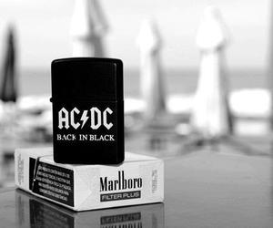 ACDC, white, and black image