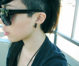 girl, hair, and undercut image