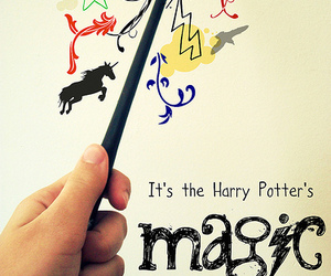 harry potter, magic, and wand image